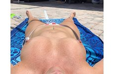 Getting some sun! Wish I had a friend over
