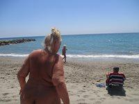 Naked on the beach again